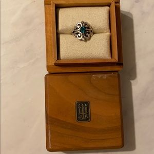 James Avery emerald ring wooden ring box